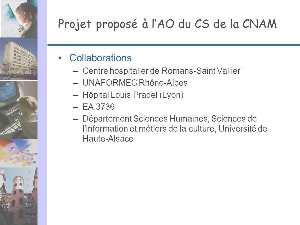 Projet proposé à l'AO du CS de la CNAM