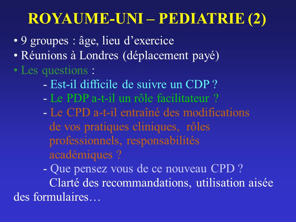 ROYAUME-UNI – PEDIATRIE (2)