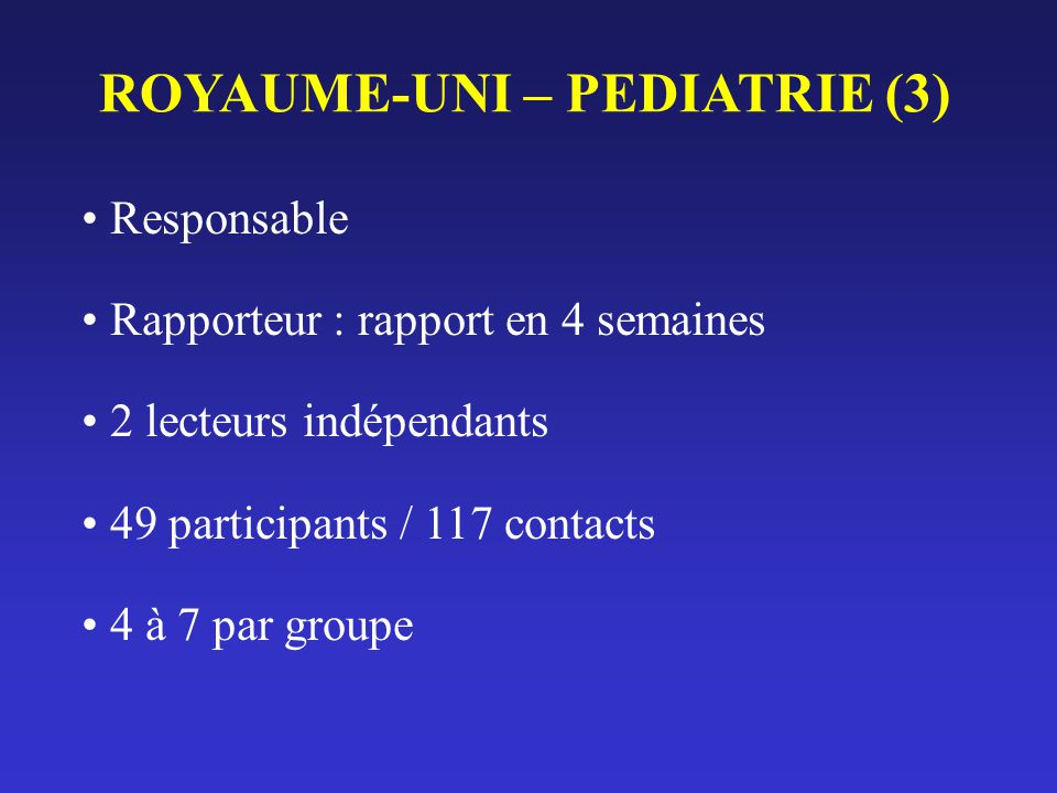 ROYAUME-UNI – PEDIATRIE (3)