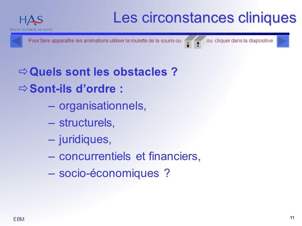 Les circonstances cliniques