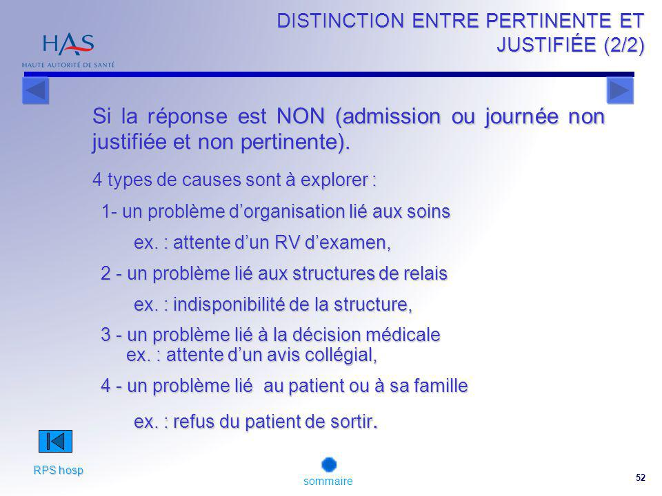 DISTINCTION ENTRE PERTINENTE ET JUSTIFIÉE (2/2)