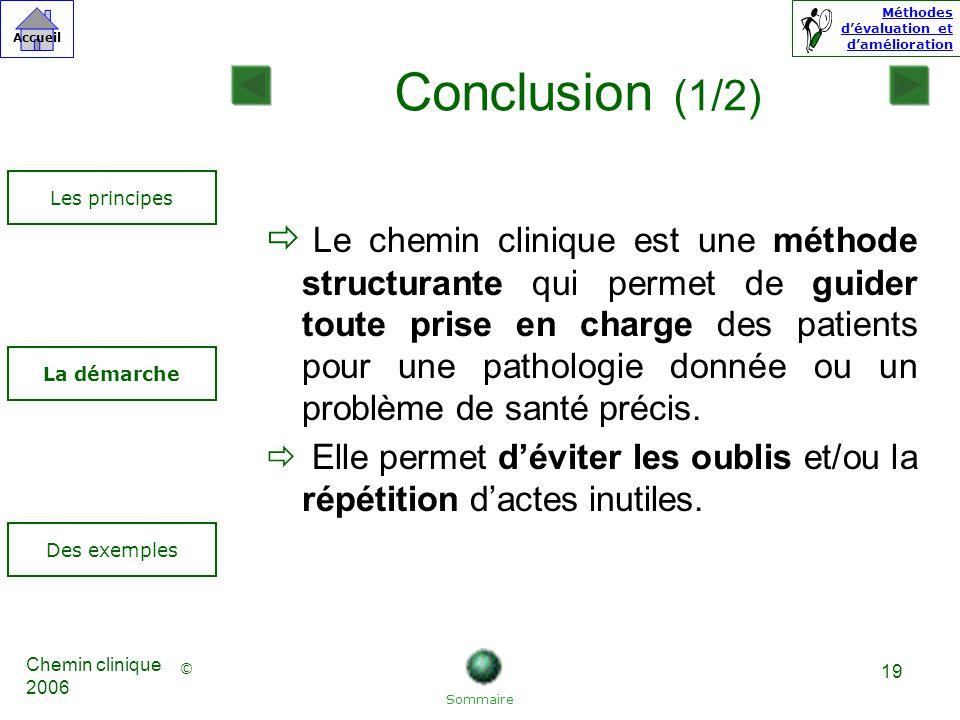 Conclusion (1/2) Les principes.