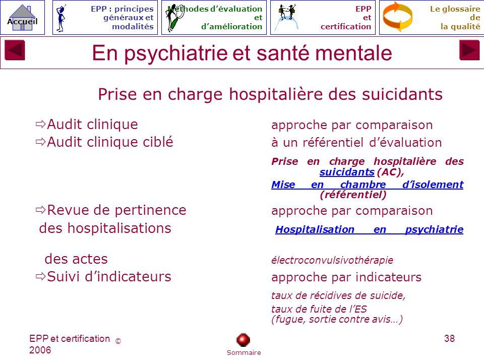 En psychiatrie et santé mentale