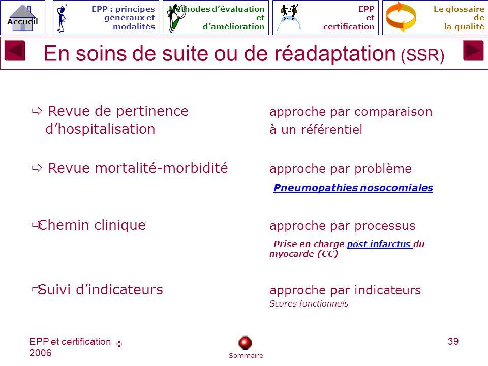 En soins de suite ou de réadaptation (SSR)