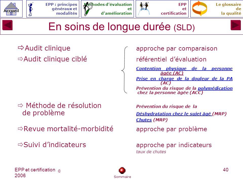 En soins de longue durée (SLD)