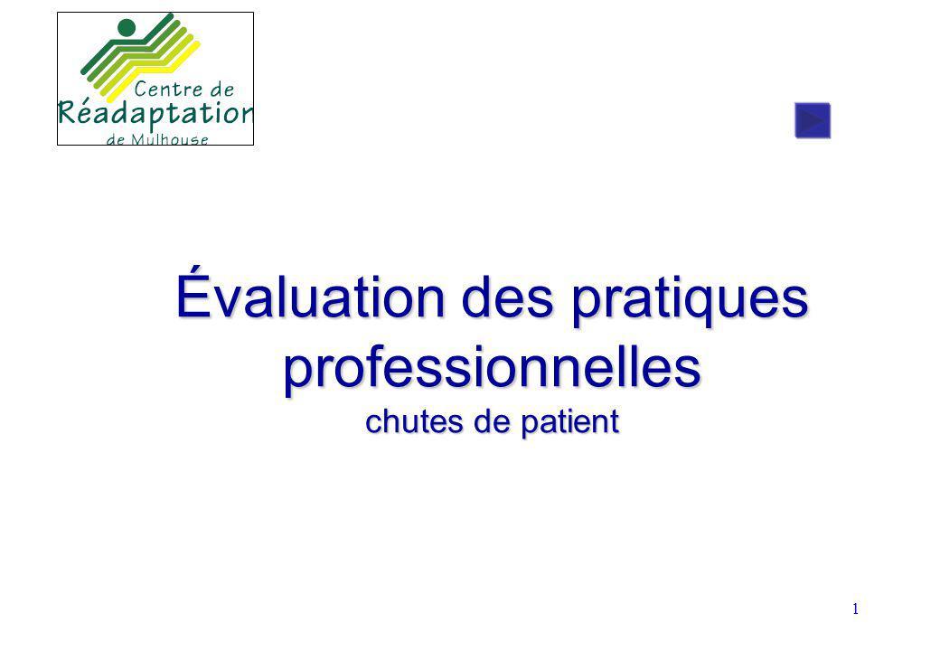 Évaluation des pratiques professionnelles chutes de patient