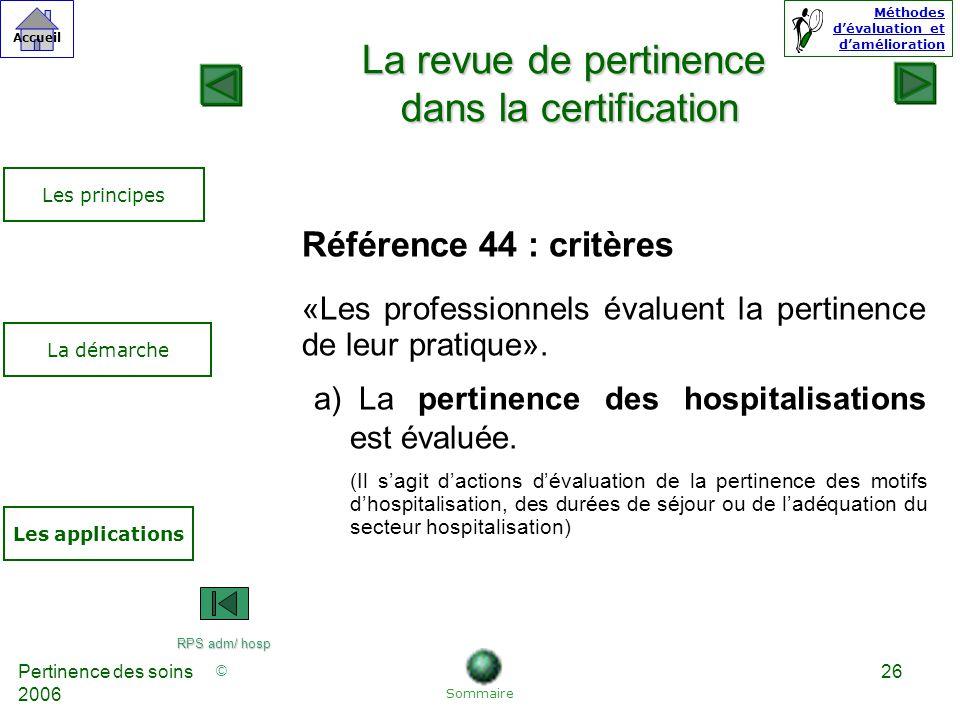 La revue de pertinence dans la certification