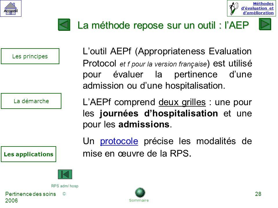 La méthode repose sur un outil : l'AEP