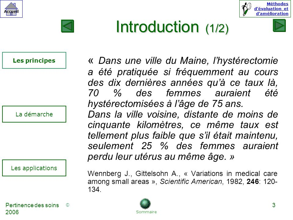 Introduction (1/2) Les principes.
