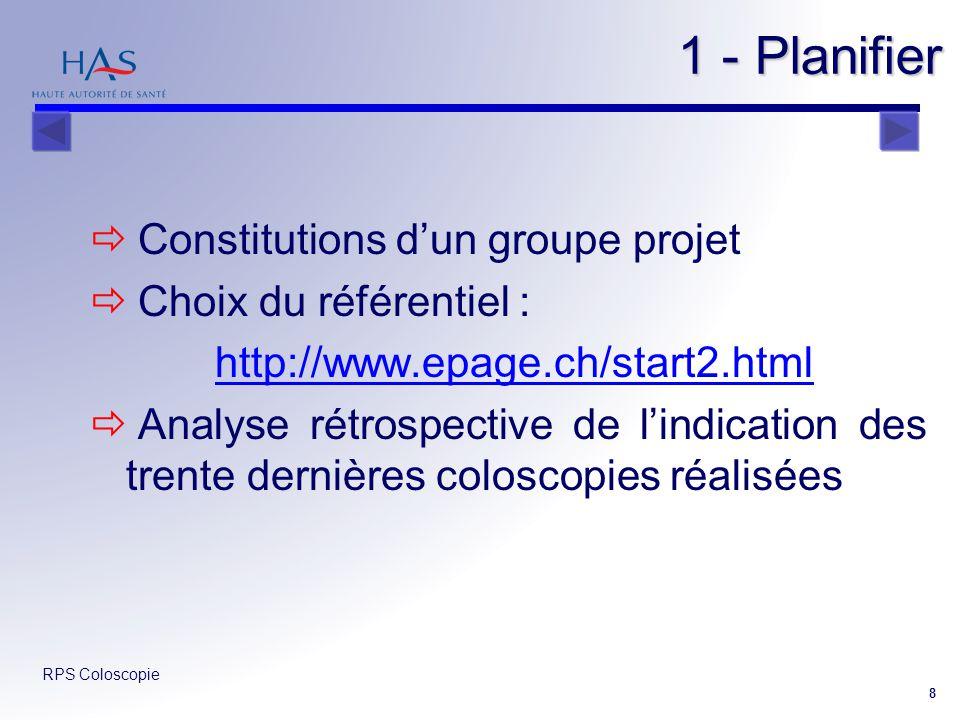 1 - Planifier Constitutions d'un groupe projet Choix du référentiel :
