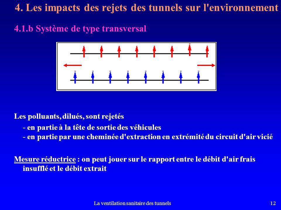 4. Les impacts des rejets des tunnels sur l environnement