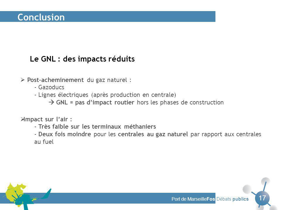 Conclusion Le GNL : des impacts réduits 17