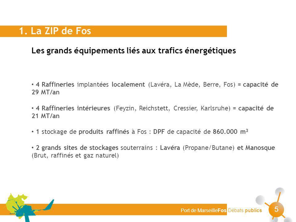 1. La ZIP de Fos Les grands équipements liés aux trafics énergétiques