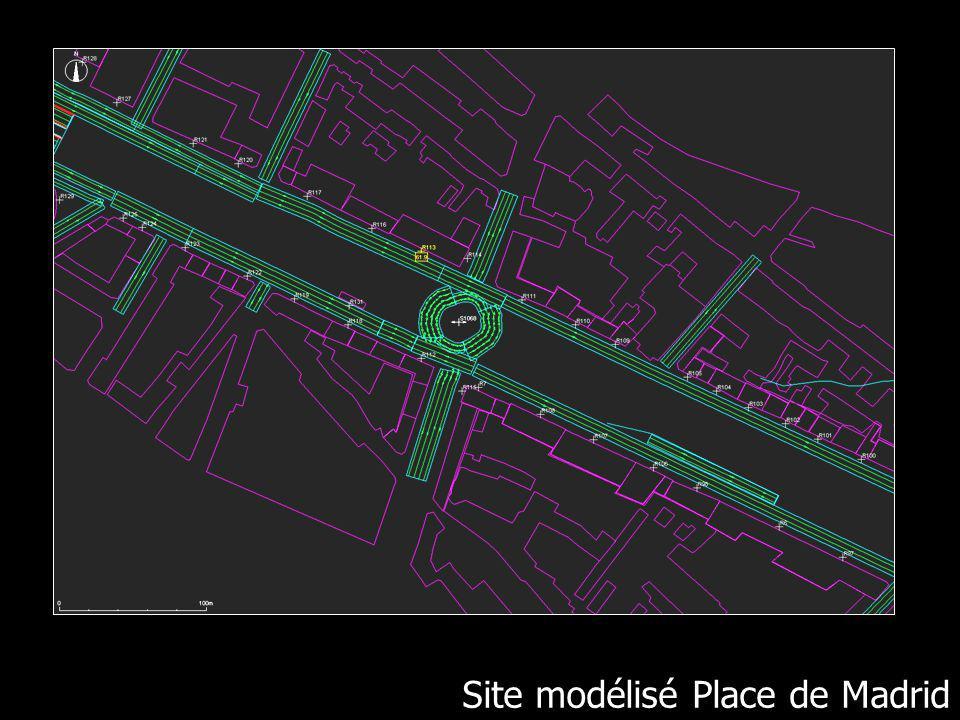 Site modélisé place de Madrid