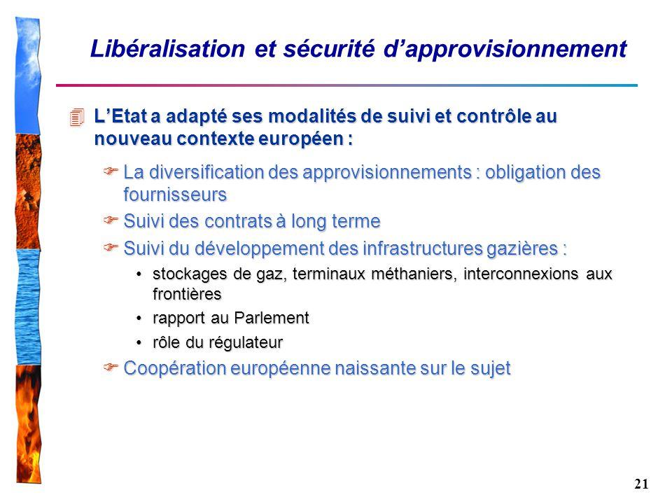 Libéralisation et sécurité d'approvisionnement