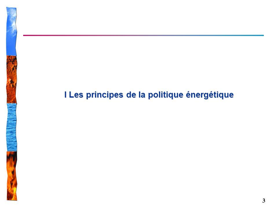 I Les principes de la politique énergétique