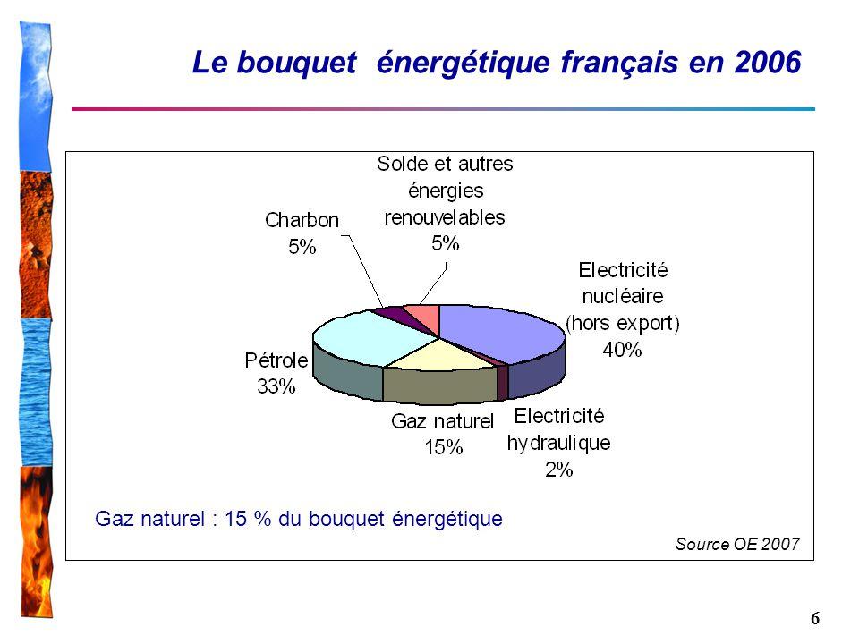 Le bouquet énergétique français en 2006
