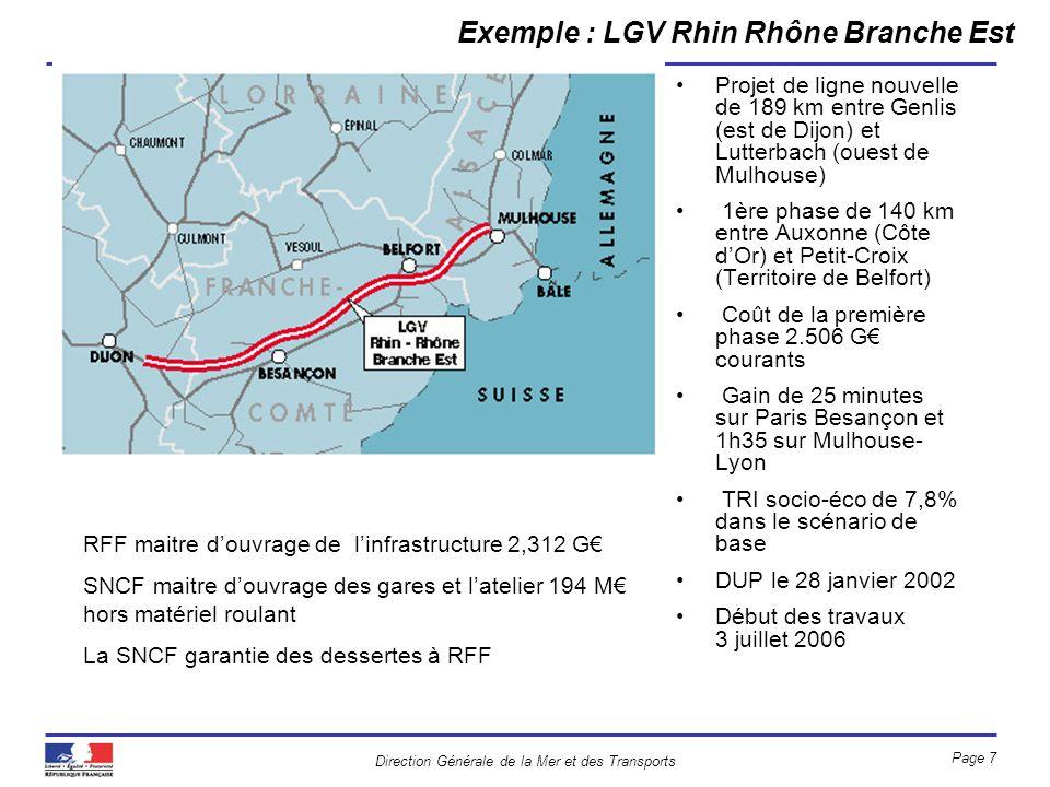 Exemple : LGV Rhin Rhône Branche Est