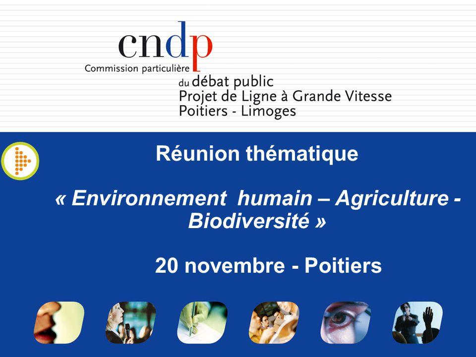 « Environnement humain – Agriculture - Biodiversité »