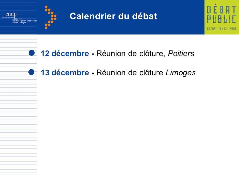Calendrier du débat 12 décembre - Réunion de clôture, Poitiers