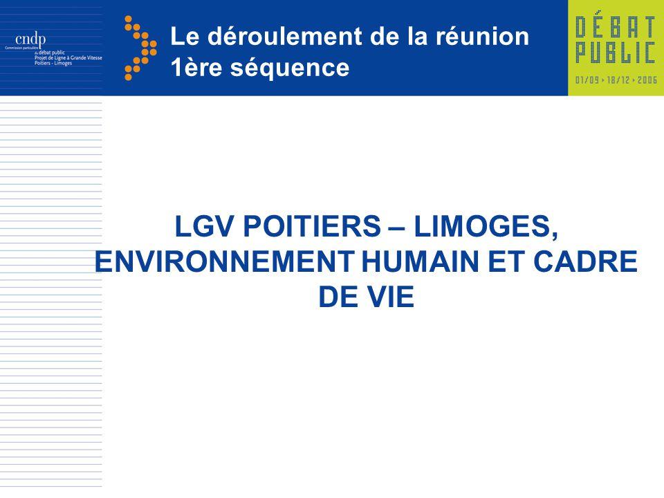 LGV POITIERS – LIMOGES, ENVIRONNEMENT HUMAIN ET CADRE DE VIE