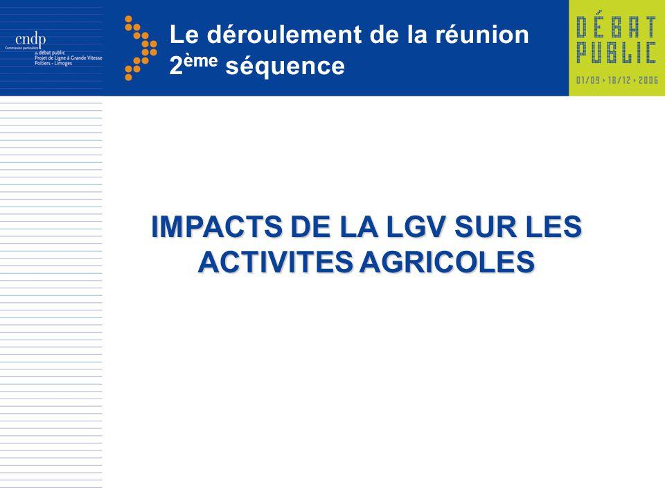 IMPACTS DE LA LGV SUR LES ACTIVITES AGRICOLES