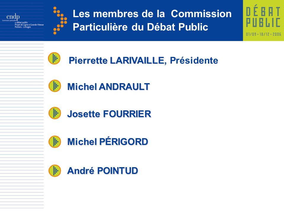 Les membres de la Commission Particulière du Débat Public