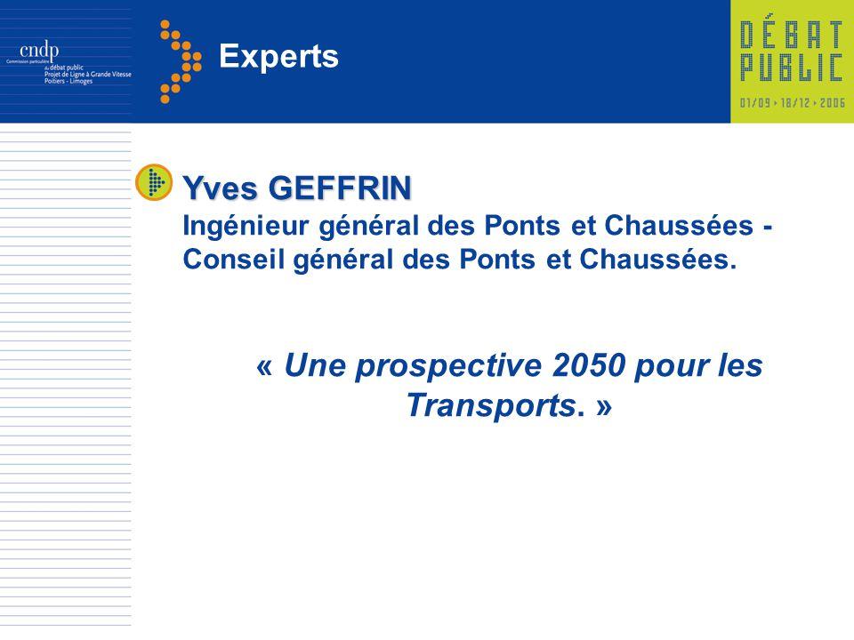 « Une prospective 2050 pour les Transports. »