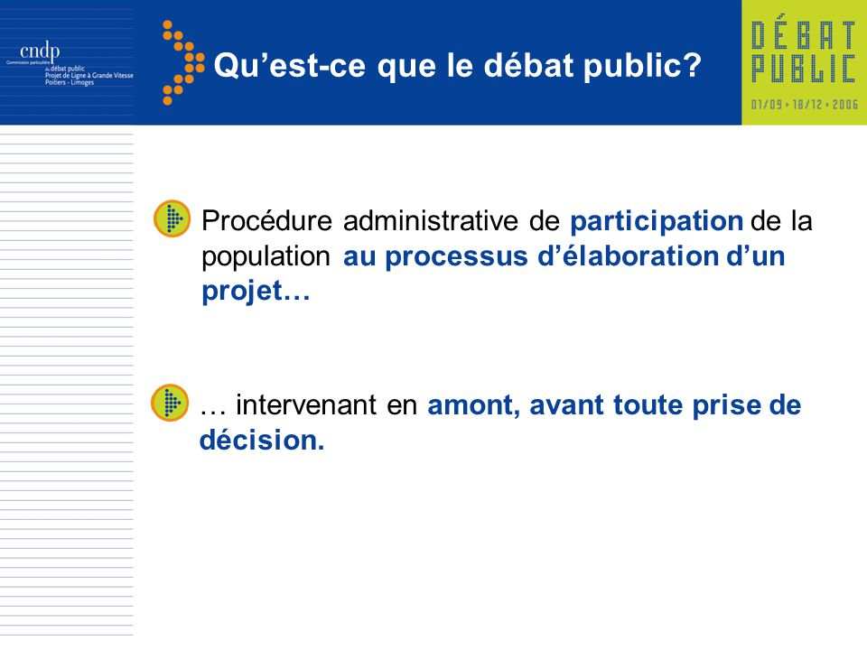 Qu'est-ce que le débat public
