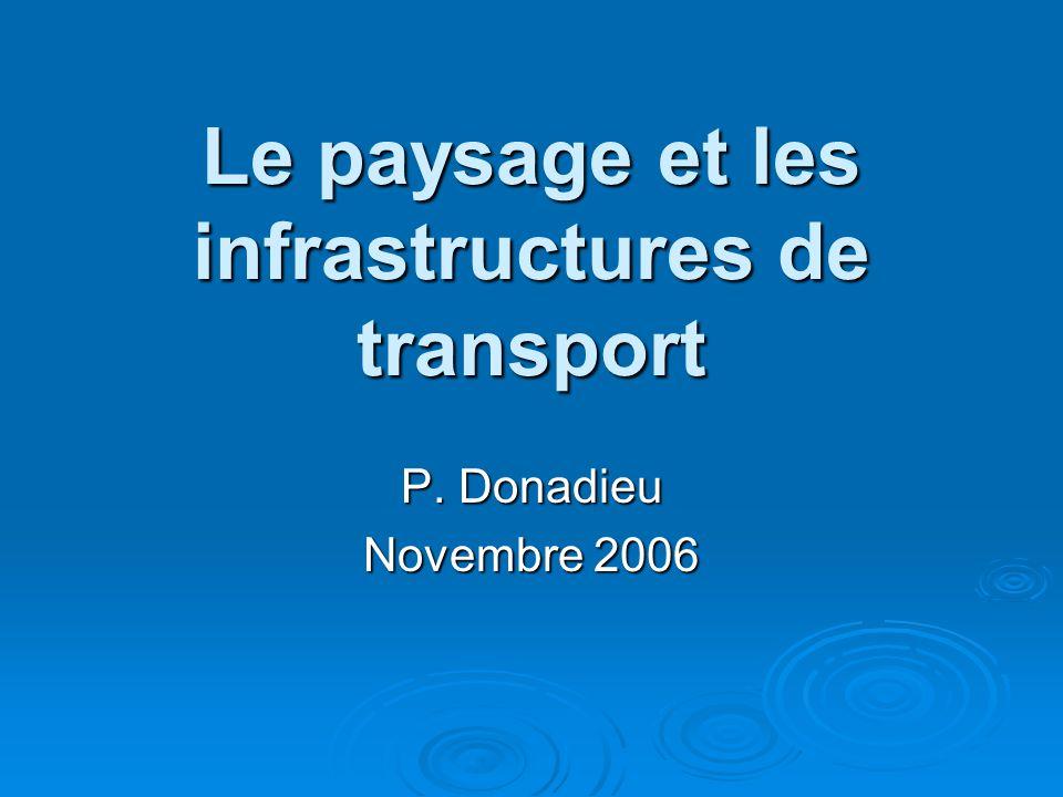 Le paysage et les infrastructures de transport