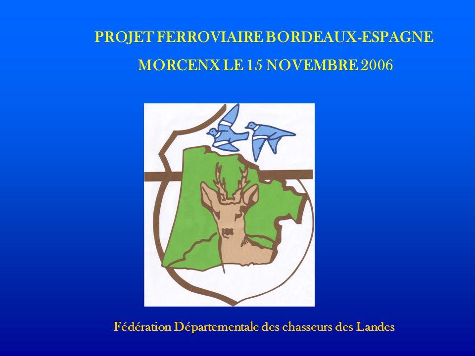 PROJET FERROVIAIRE BORDEAUX-ESPAGNE MORCENX LE 15 NOVEMBRE 2006