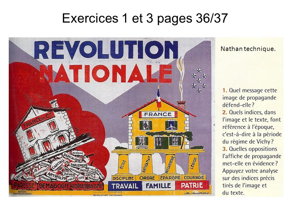Exercices 1 et 3 pages 36/37 Nathan technique.