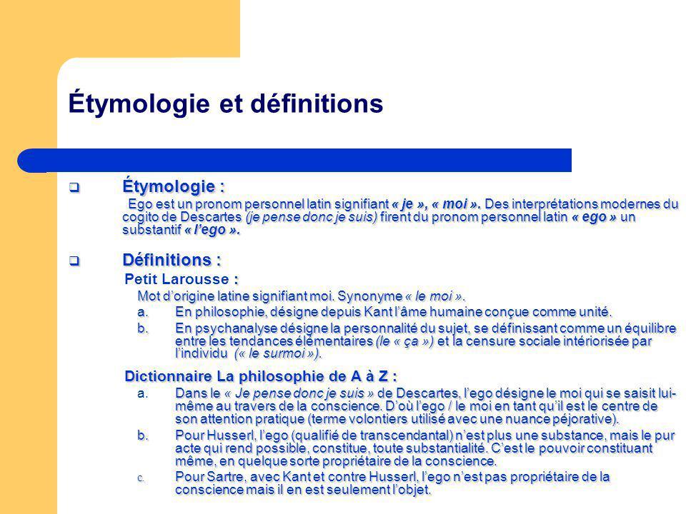 Étymologie et définitions