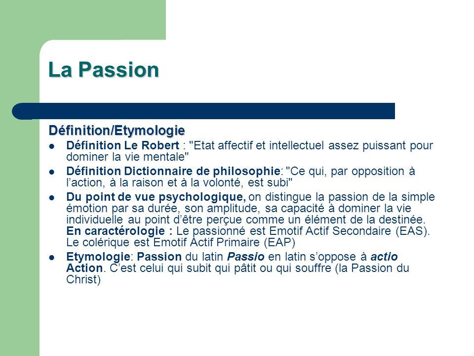 La Passion Définition/Etymologie
