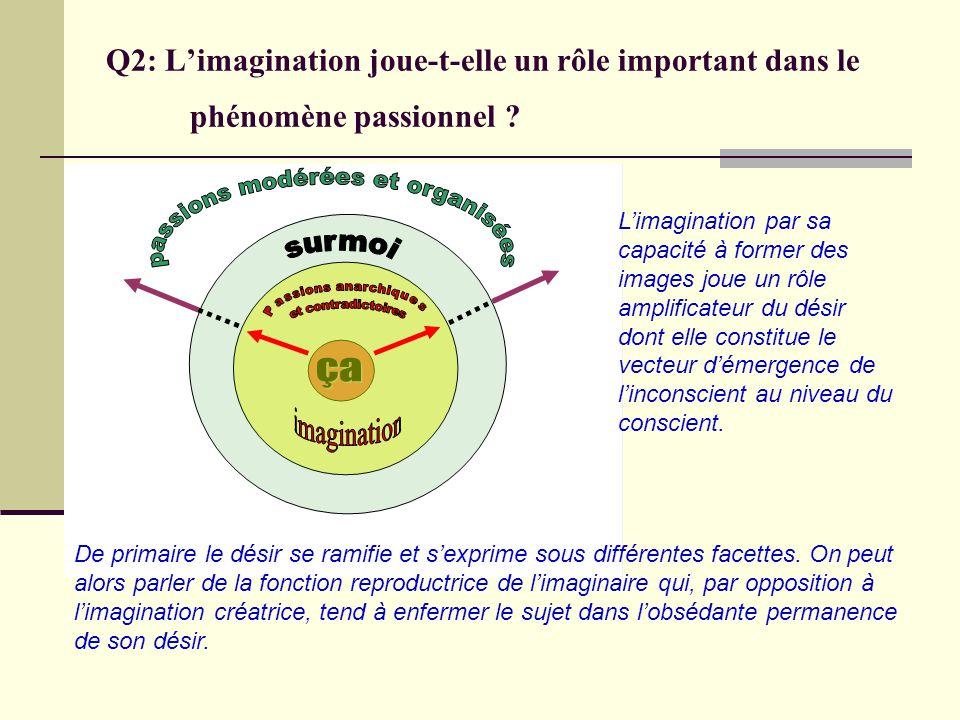 Q2: L'imagination joue-t-elle un rôle important dans le phénomène passionnel