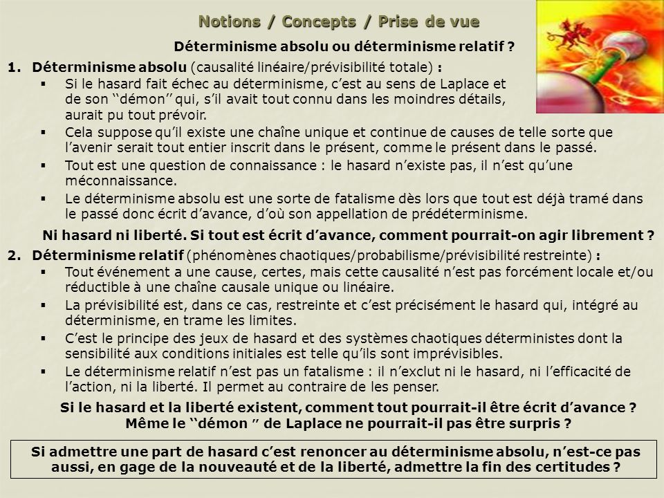 Notions / Concepts / Prise de vue