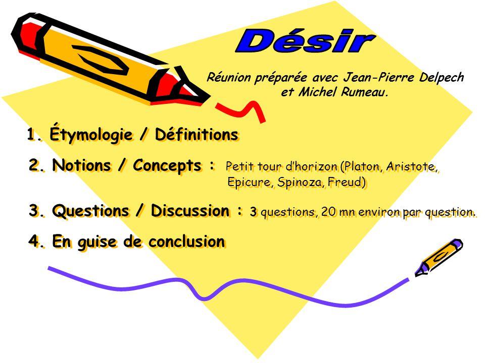 Réunion préparée avec Jean-Pierre Delpech