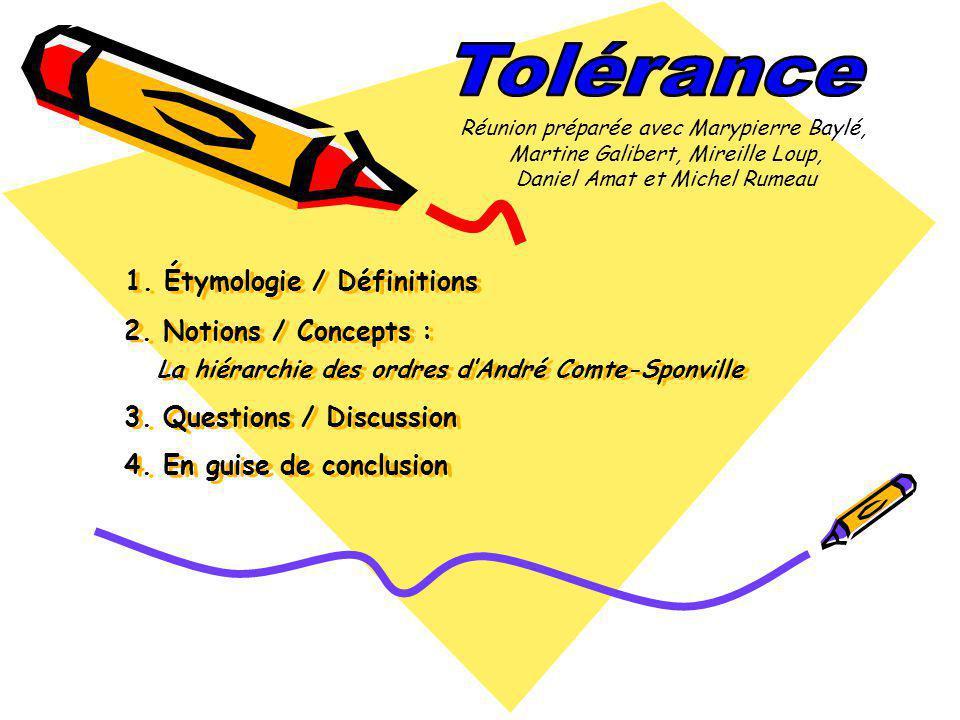 Tolérance Réunion préparée avec Marypierre Baylé, Martine Galibert, Mireille Loup, Daniel Amat et Michel Rumeau.