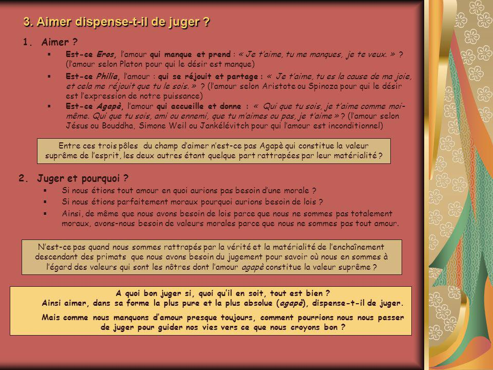 3. Aimer dispense-t-il de juger