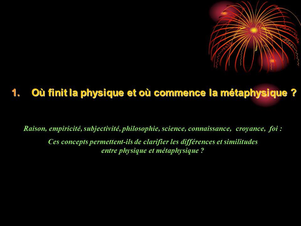 entre physique et métaphysique