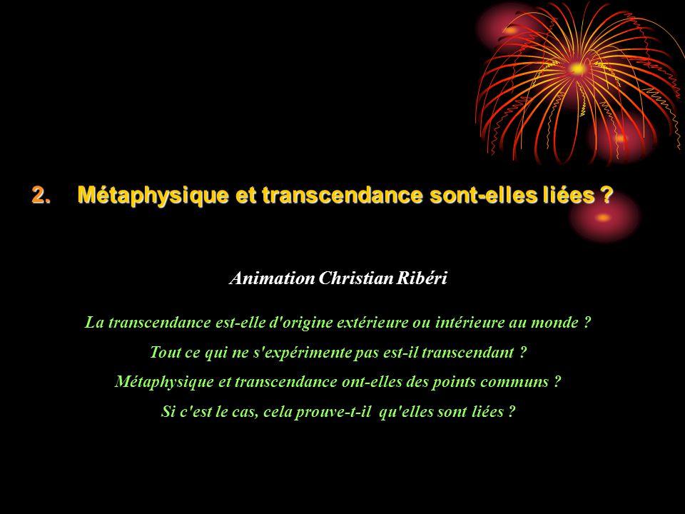Métaphysique et transcendance sont-elles liées