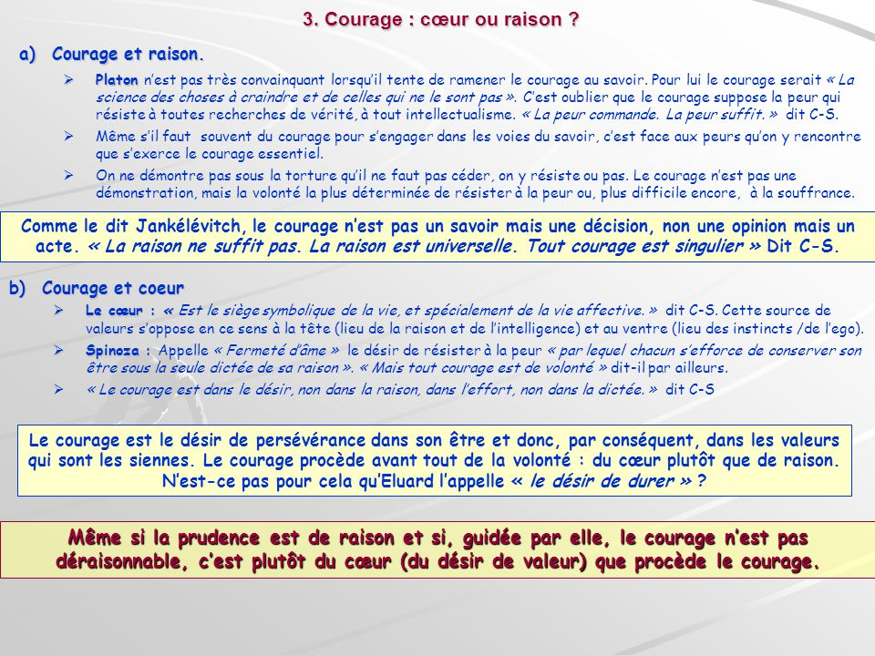 3. Courage : cœur ou raison
