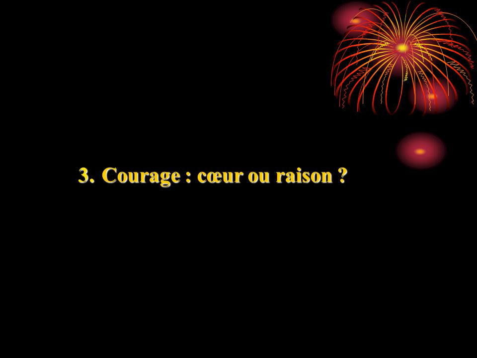 Courage : cœur ou raison