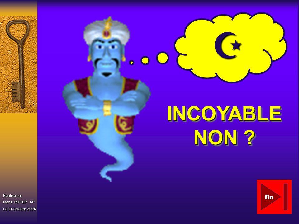 Z INCOYABLE NON Réalisé par Mons. RITTER J-P Le 24 octobre 2004 fin