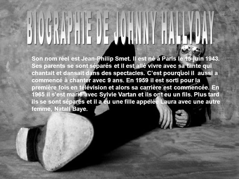 BIOGRAPHIE DE JOHNNY HALLYDAY