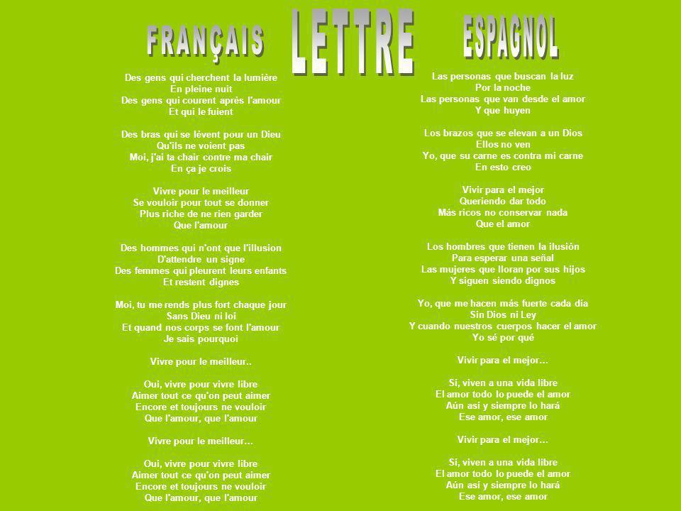 LETTRE ESPAGNOL FRANÇAIS