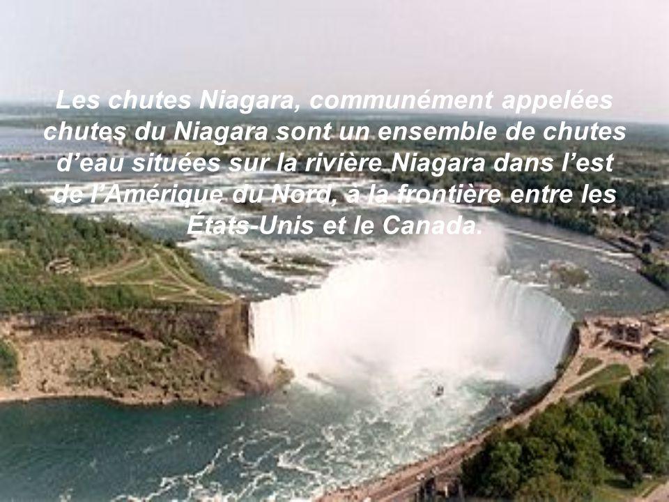 Les chutes Niagara, communément appelées chutes du Niagara sont un ensemble de chutes d'eau situées sur la rivière Niagara dans l'est de l'Amérique du Nord, à la frontière entre les États-Unis et le Canada.