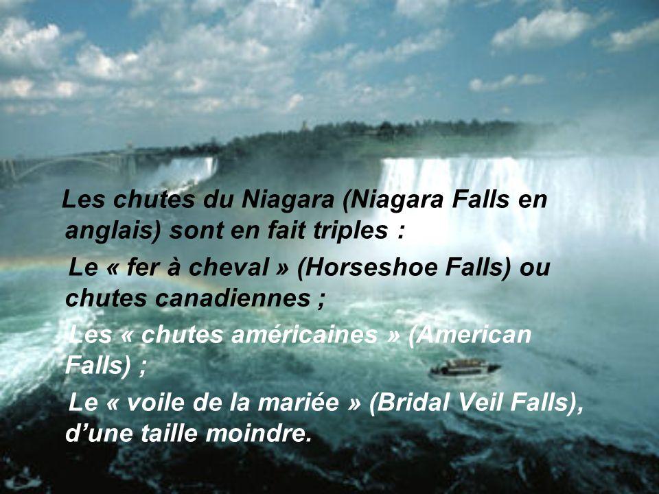Les chutes du Niagara (Niagara Falls en anglais) sont en fait triples :