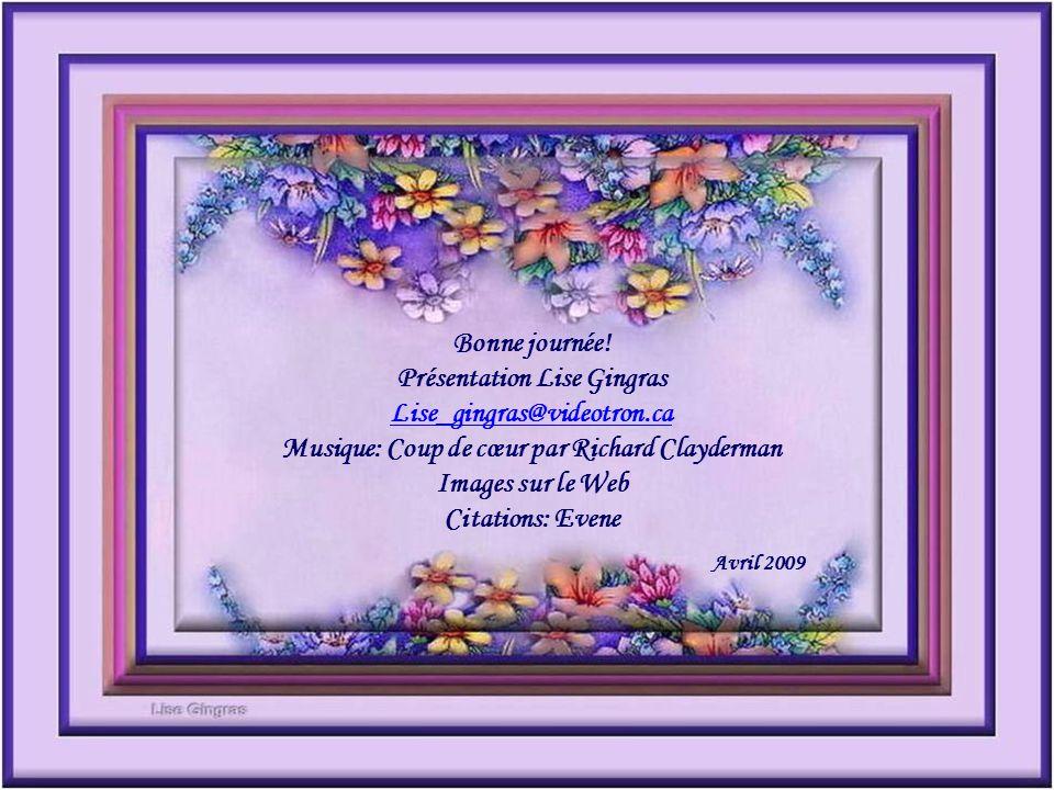 Présentation Lise Gingras Musique: Coup de cœur par Richard Clayderman