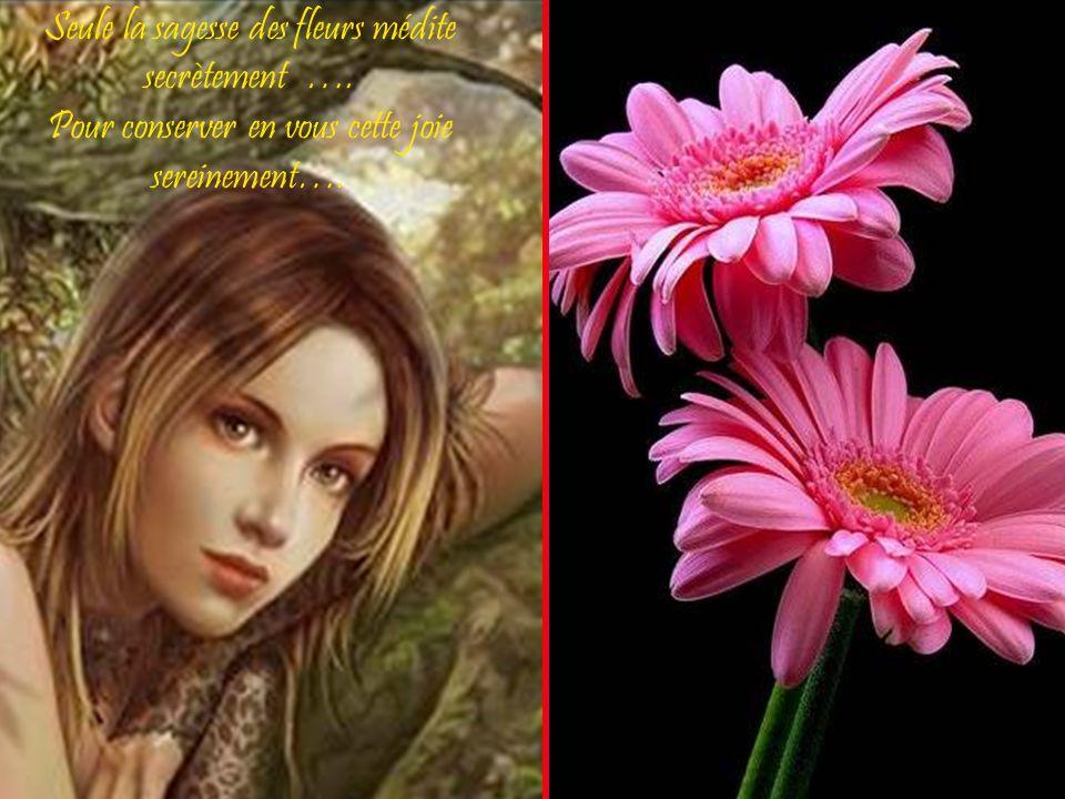 Seule la sagesse des fleurs médite secrètement …